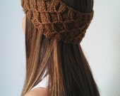 Knit Turban Headband Earwarmer in TOFFEE - THE FRIDA -  (more colors available)