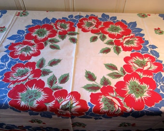 A Vintage Wild Rose Tablecloth