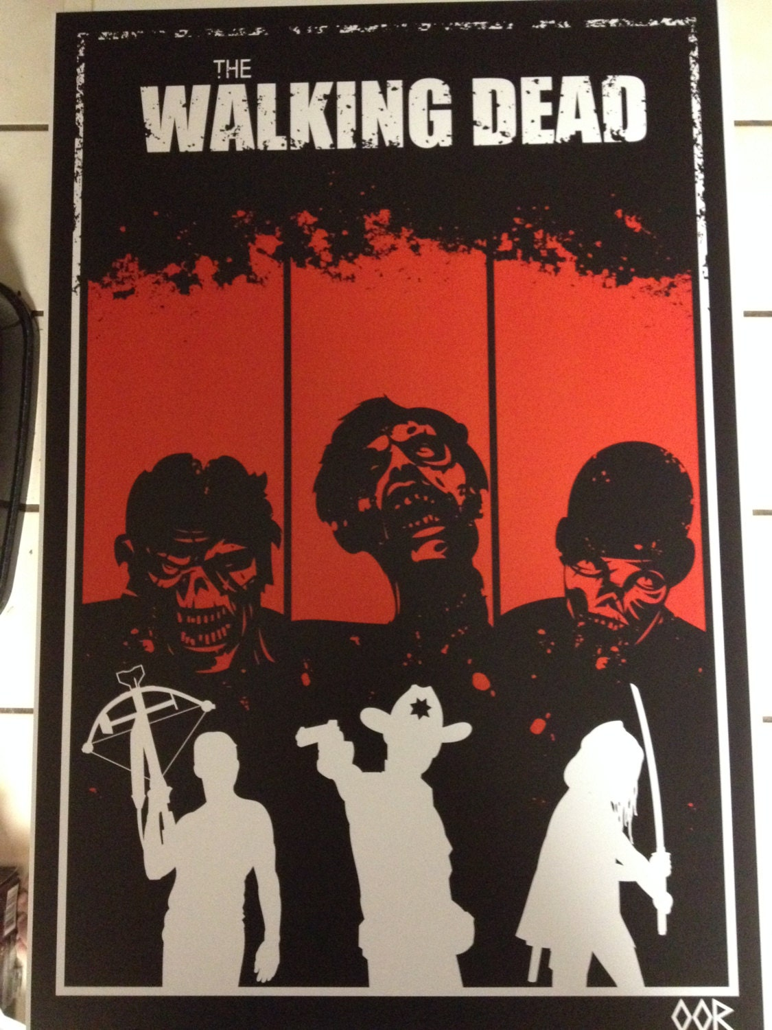 the walking dead poster print. Black Bedroom Furniture Sets. Home Design Ideas