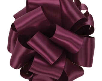 "Satin Ribbon, 1 1/2"" Double Face Wine Red Purple - FIVE YARDS - Offray ""Wine #275"" Double Sided Reversible Satin, Wedding / Sewing Ribbon"