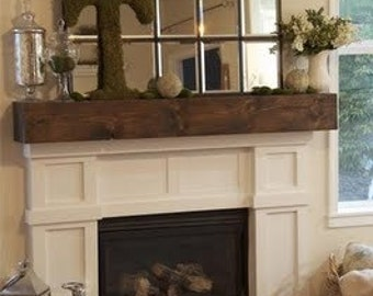 Rustic Mantel  beam shelf