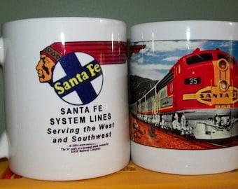 RAILROAD COFFEE MUG  - Santa Fe Railroad
