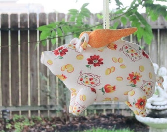 Flying pig softie plush stuffed pig toy soft stuffed animal toy orange child friendly toy gift for birthday get well and cheer up