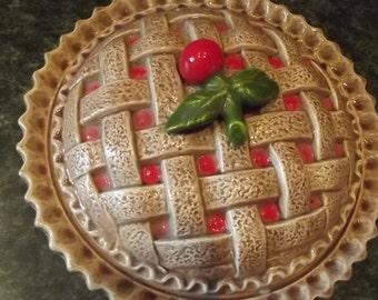 Glazed Cherry Pie Baker, Keeper, Server