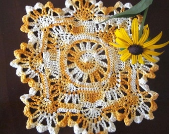 New Handmade Cotton Cloth Crocheted Doily