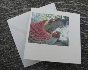 Liken Lichen detail by Kally Davidson Greeting Card