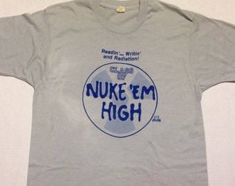 Vintage 1980's Troma Films Class Of Nuke 'Em High t-shirt, L-XL