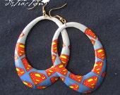 Superman Gradient Hoop Earrings FREE shipping