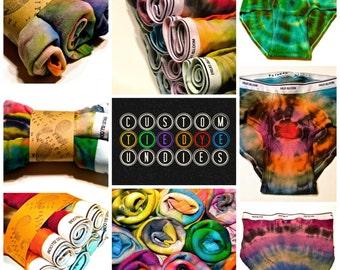 CUSTOM Tie-Dyed Men's Brief Underwear-Anniversary-Valentines-Stocking Stuffer-ALL SIZES