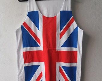 UK flag british union jack punk rock Tank Top M