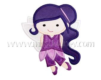 Purple Wind Fairy Applique Design