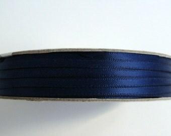 "1/8"" Satin Ribbon - Navy - Whole Spool - 100 yds"