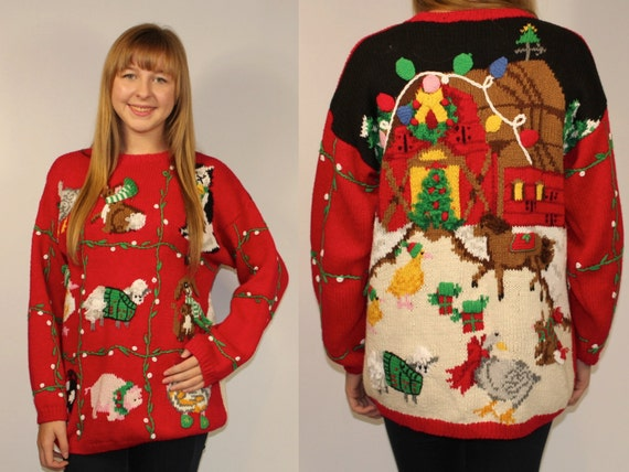 Reversible Singing Oversized Cute Tacky Christmas By