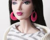 """16"""" enamel and silver Go-Go earrings"""