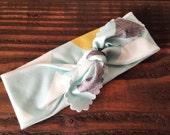 CLEARANCE   // Mint Mountain Headband // Organic Cotton Knotted Headband