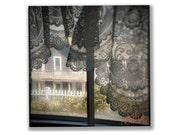 Fine Art Photography, Square Print, Window Wall Decor, Lace Curtain Art, Home Decor, Wall Art, Wall Decor, Square Art, 8x8, 10x10, 12x12