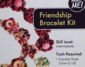 Pollika Crochet Friendship Bracelet Kit - Overdyed Metallic Shimmer