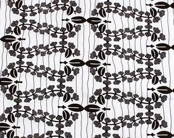 Garland Print  Head wrap: Black & White African head wrap.