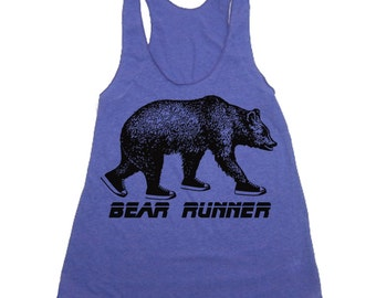 Motivational Workout Tank - Bear Runner - Workout Clothes For Women - Running Shirt - Run Tank Top - Run Shirt - Gym Tank Top