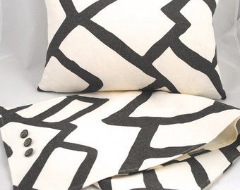 Beautiful Decorative Pillow Cover-14x20--ZIMBA- Charcoal
