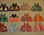 all vests for my moose listed on etsy.