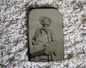 Original tin type photo of Southern Soldier of the Civil War