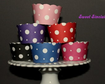 Assorted Polka Dot Cupcake Wrappers