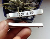 Personalized Sterling Silver Tie Clip