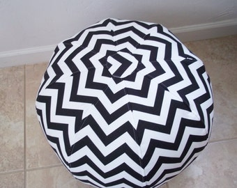 Black and White Chevron,  Pouf/Ottoman