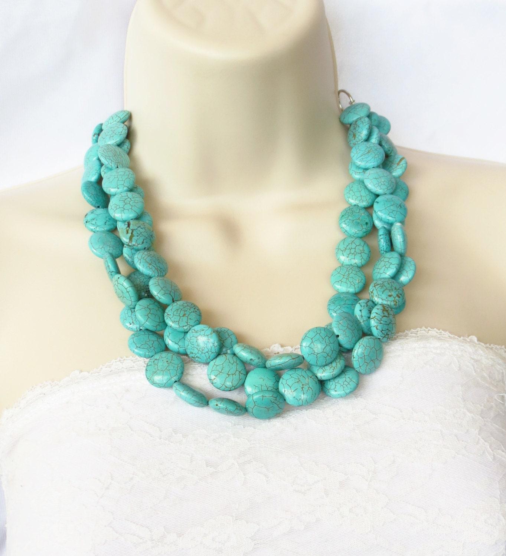 fall jewelry chunky turquoise statement by wildflowersandgrace