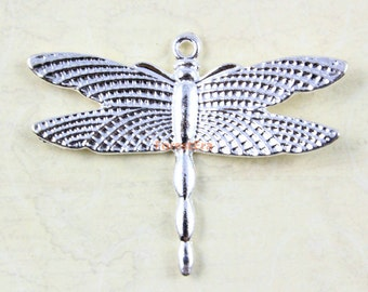 20Pcs Antique Silver dragonfly Charm dragon fly Pendant 36x27mm (PND562)