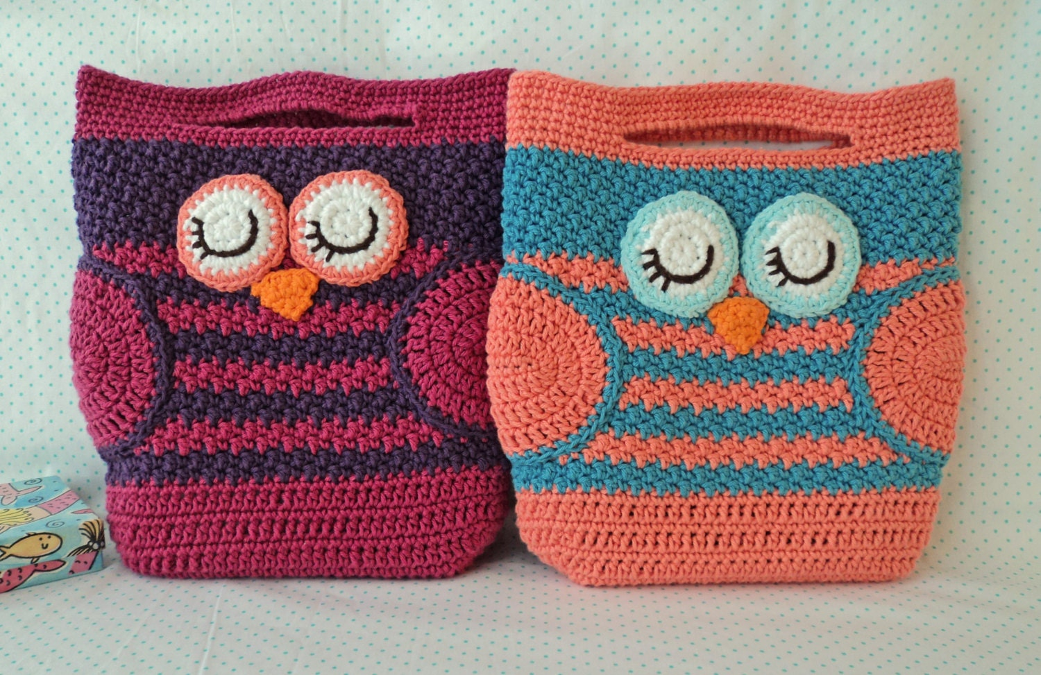 26 bags to knit crochet or sew etsy mini owl bag crochet pattern instant download bankloansurffo Gallery
