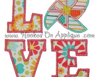 Love Pinwheel - Appliqued and Personalized