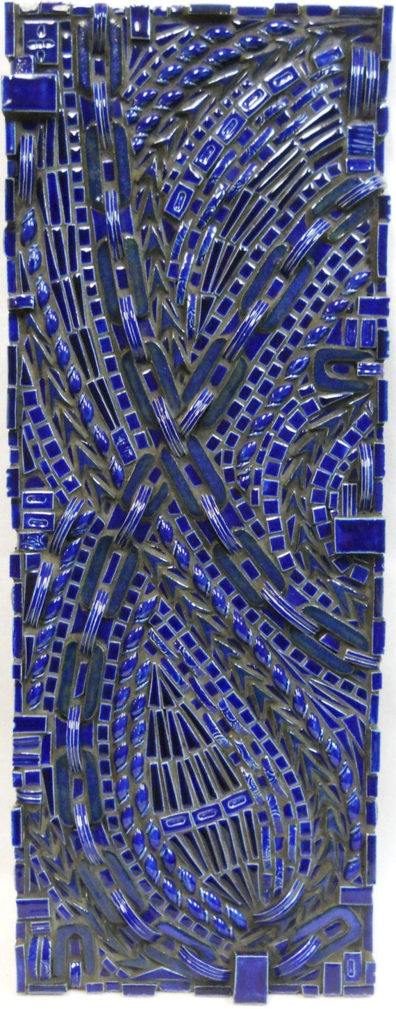 Abstract Mosaic Wall Art Handmade Ceramic by ...