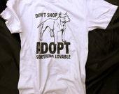 DON'T SHOP ADOPT Men's Grey T-Shirt