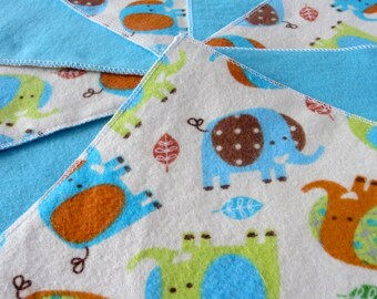 Diaper Wipes/Flannel Washcloths/Cloth Diaper Wipes for Baby, Elephants (10)