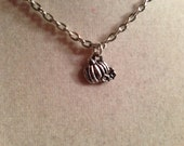 Pumpkin Necklace - Silver Jewelry - Halloween Jewellery - Children - Girls - Chain - Pendant - Trick or Treat