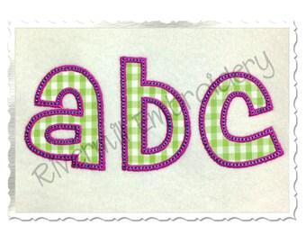 Cheri Applique (Satin w/ Bean Stitch) Machine Embroidery Font Monogram Alphabet - 5 Sizes