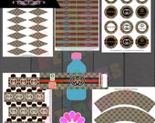 couture inspired birthday party theme decorations supplies inspired DIGITAL FILES