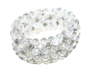 Clearance Sale Christmas Sale Unique Gifts for HerClear Crystal and Rhinestone Bracelet