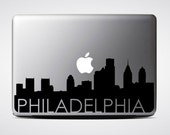 Philadelphia Skyline Macbook Decal #3 / Macbook Sticker / Laptop Decal