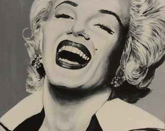 """Marilyn Monroe - Art Print Reproduction 10"""" x 12"""" - signed by Artist"""