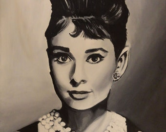 "Audrey Hepburn - Art Print Reproduction 10"" x 12"" - signed by Artist"