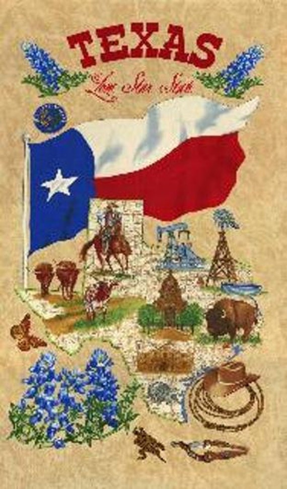 Lone Star State Moda Panel Cotton Quilt Fabric