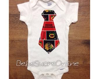 Chicago Blackhawks Boys Bodysuit or Toddler Shirt
