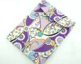 SALE LAST ONE Retro iPad Sleeve - Accessory For iPad - Kimono iPad Case - iPad Cover - Kimono pattern fabric chrysanthemum purple