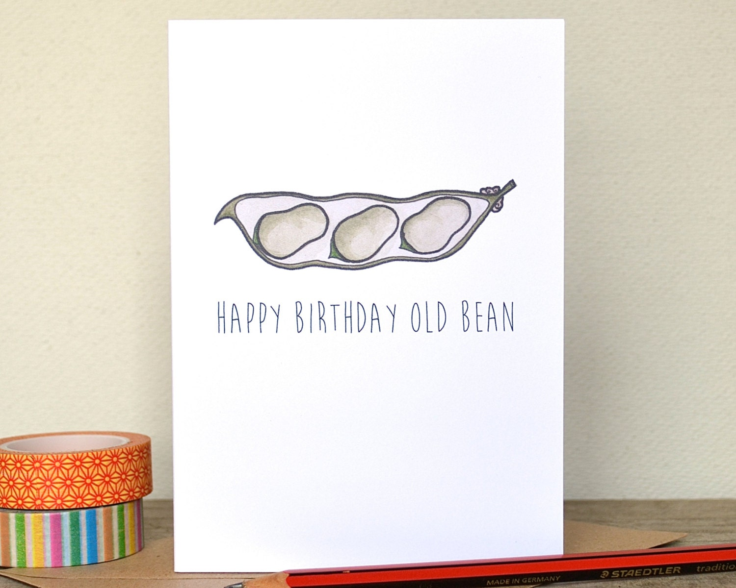 Happy Birthday Old Bean Card Pun Birthday Broad by BeckaGriffin