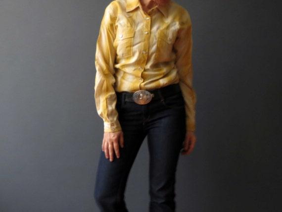 handmade mustard yellow plaid western cowboy small