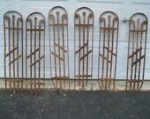 antique ornate iron staircase panels,iron panels,decorative iron panels,garden art