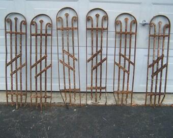 antique ornate iron staircase panels,iron panels,wall art,decorative iron panels,garden art